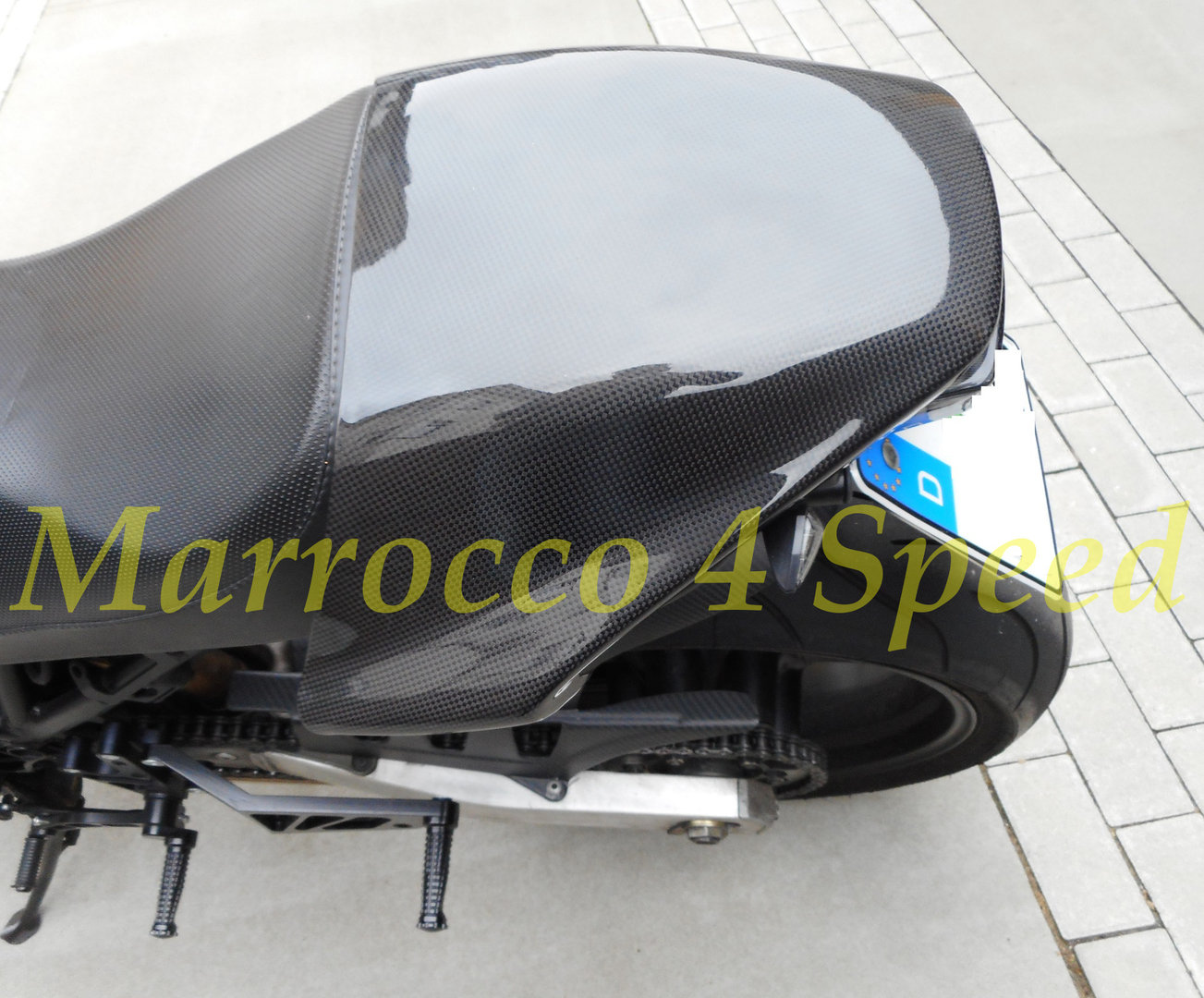 Ducati Monster Carbon Seat Cowl Marrocco 4 Speed